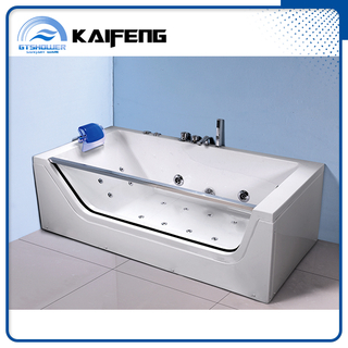 Tempered Glass Side Acrylic Bathtub Hidromassage